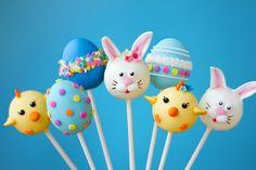 Kid's Party Food Easter Cake Pops www.spaceshipsandlaserbeams.com easter cake, cake pops, food easter, cakepop, kid parties