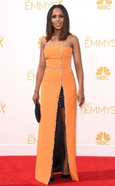 Kerry Washington from 2014 Emmys: Red Carpet Arrivals   E! Online