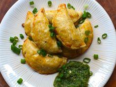 Potato and Corn Empanadas - Vegan (w/ egg replacer to seal the pockets)