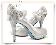 Bridal Wedding Ivory Silver Shoes