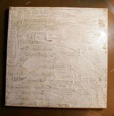 Gesso-over book pages