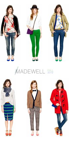 MADEWELL fall 2012. it'll be a great day when Madewell decide to start shipping to Oz.
