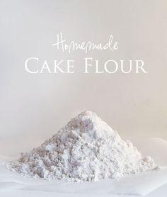 Homemade Cake Flour!  from iambaker.net