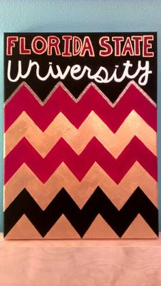 Paint chevron on a canvas using painters tape!