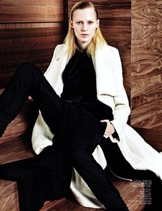 Julia Nobis was photographed by Sharif Hamza and styled by Tiina Laakkonen for the November issue of Vogue China magazine.