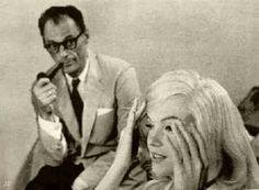 Arthur Miller & Marilyn Monroe during The Misfits
