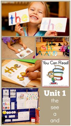 You Can Read Sight Words Unit 1  ~ a peek into what the entire unit looks like in #homeschool #Kindergarten with @{1plus1plus1} Carisa