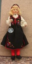 Vintage NM 7 1/2 Ronnaug Petterssen Girl Doll w Tag and Kimport tag - Norway