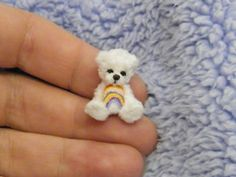 Miniature OOAK Rainbow Artist Bear