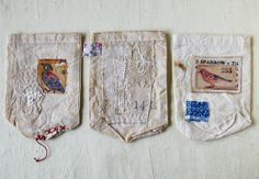 Textile art Little pouches Featured in Somerset by Colette Copeland