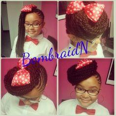 kinky braid hair Kids Braids