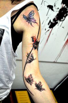 Butterflies by Musa #InkedMagazine #Butterfly #butterflies #tattoos #tattoo #Inked #Ink