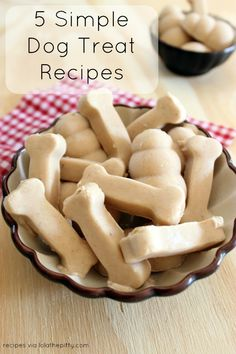 *5 Simple Homemade Dog Treat recipes* @lolathepitty - Victoria Stilwell Positively site