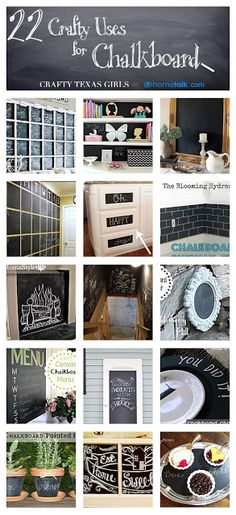 22 Crafty Uses for Chalkboard - you'll never look at chalkboards the same way again!