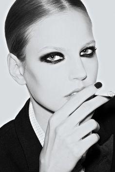 smokey vogue paris, makeup, vogu pari, octob 2013, beauti, pari octob, october, katja rahlw, elisabeth erm