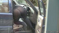 sexy big butt in transparent see through lycra leggings outdoors. Daniella English lycra ass videos.