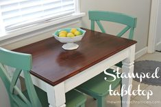 the winthrop chronicles: stamped tabletop #diy #stamping