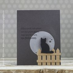 When Black Cats Prowl Card by Laurie Willison for Papertrey Ink (August 2014)