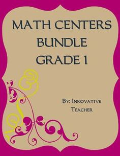 Math Centers Bundle - Grade 1