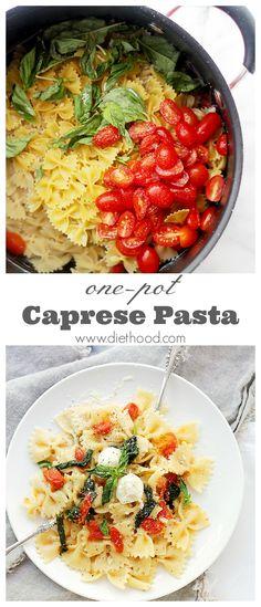 one pot dinner, caprese pasta, capres pasta, pasta vegetables, pasta one pot, pasta dinners, delici pasta, pasta dinner recipes, yummy foods recipes