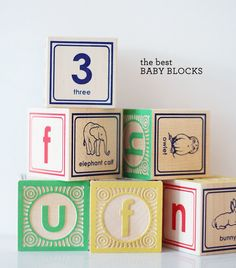 the most gorgeous ABC blocks on the market