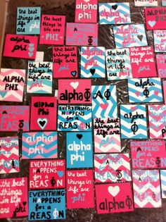 too much love for babies! alpha phi bid day plaques #crafting