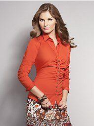 New York & Company - Madison Shirred  Shirts