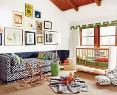 Retro-modern nurseries can give new life to tired furniture.