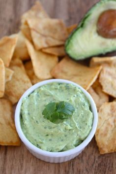 Creamy Avocado Yogurt Dip on www.twopeasandtheirpod.com An easy and healthy dip!