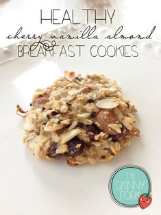 Healthy Cherry Vanilla Almond Breakfast Cookies — The Skinny Fork