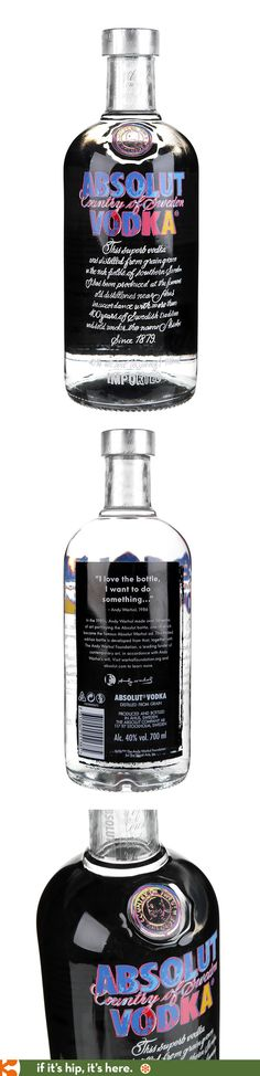 New 2014 Andy Warhol Absolut Bottle.