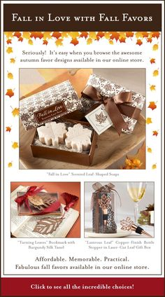 festive fall wedding favors #wedding #fallwedding #fallweddingfavors