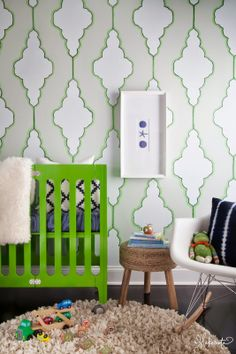 Green crib! #crib #nursery #green #modernnursery #summerinthecity