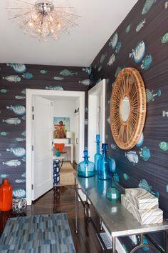 foyer   Urban Beach House + Rachel Reider Interiors
