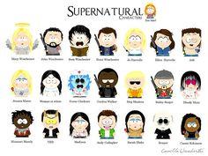 supernatural south park characters