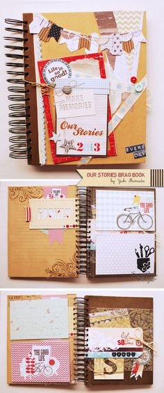 Yuki Shimada using some Fancy Friday Freebies in her Memory Brag Book | Fancy Pants Designs