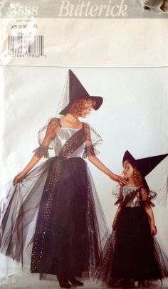 Butterick 3588 Misses and Girls Witch Costume by Lonestarblondie, $2.00