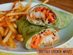 Buffalo Chicken Wraps | 15-minute dinner recipe perfect for busy weeknights! #buffalo #dinneridea