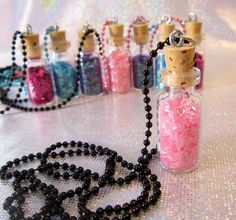 Tween Girl Party Favors - Pixie Dust Necklace Birthday Favors - Set of 8. $40.00, via Etsy.