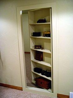 Secret bookshelf door