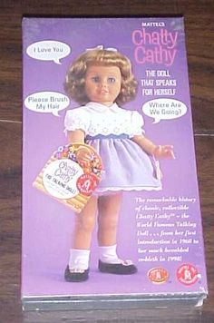 "In the 1960's Mattel Toys came out with a doll that you pulled a string on the back and it would say all sorts of cutesy phrases like, ""Please brush my hair."" It was the rage of little girls all around."