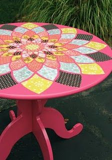 Decoupage IKEA table #DIY #crafts #home #furniture