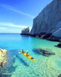 Floating on turquoise waters of Kastelorizo.