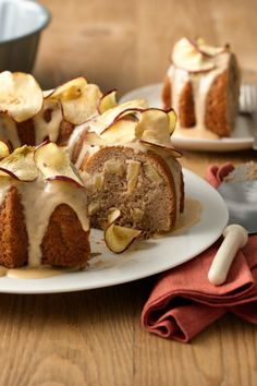 Chopped apples give texture and flavor to this easy one-bowl cake.