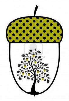 oak tree in an acorn