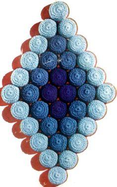 Rolling River Trivet - Crochet Bottle Cap Trivet