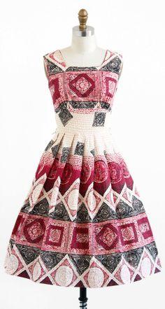 1950's Tribal Print Cotton Sundress