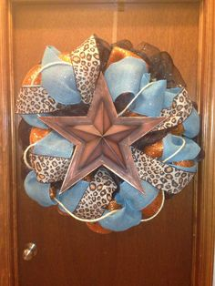 Very Large Western Chic Leopard Wreath by WildWesternWreaths