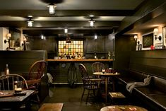 Crisp Architects - traditional - basement - new york - Crisp Architects » This basement PUB is amazing! Would you ever leave?! decor, crisp architect, basement designs, man cave, basement bars, basement pub, basements, stained glass, home bars