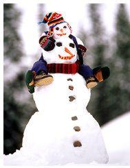 Snowman and snowbaby so cute